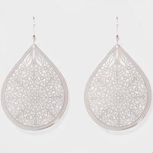 Intricate Filigree Teardrop Earrings
